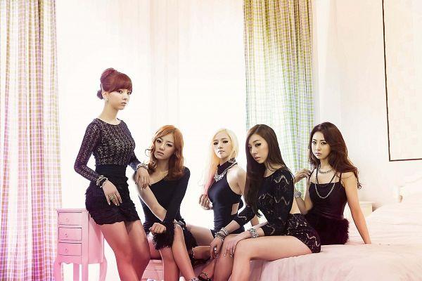 Tags: K-Pop, Ladies Code, Bad Girl (Ladies Code), Zuny, Lee So-jung, RiSe, Ashley, EunB, Black Outfit, Quintet, Full Group, Black Dress