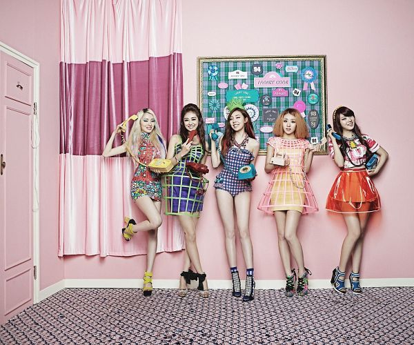 Tags: K-Pop, Ladies Code, Pretty Pretty, Lee So-jung, RiSe, Ashley, EunB, Zuny, Blonde Hair, Five Girls, Group, High Heels