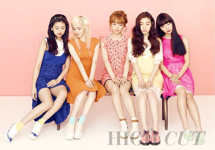 Tags: K-Pop, Ladies Code, RiSe, Lee So-jung, Ashley, EunB, Zuny, Orange Dress, Eyes Closed, Blue Dress, Yellow Dress, Group