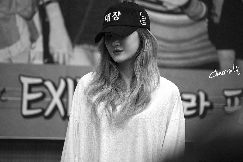 Tags: K-Pop, EXID, Le, Hat, Multi-colored Hair