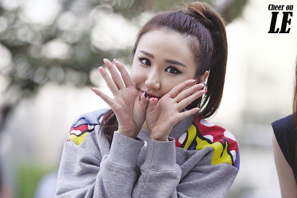 Tags: K-Pop, EXID, Le, Cute, Hair Up, Ponytail, Wallpaper