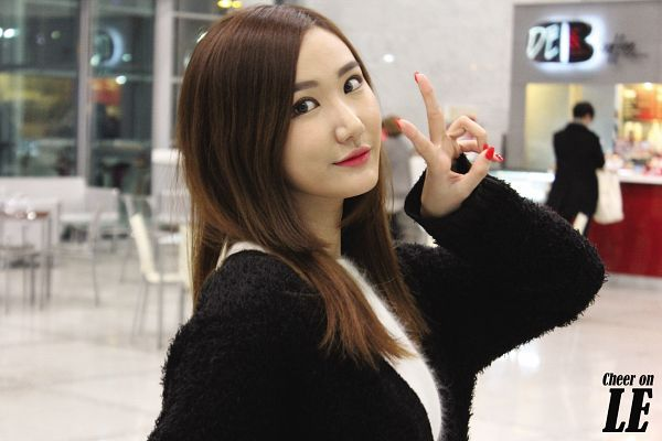 Tags: K-Pop, EXID, Le, V Gesture, Black Outerwear, Black Jacket, Wallpaper