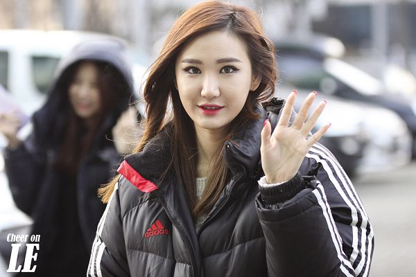 Tags: K-Pop, EXID, Le, Black Outerwear, Black Jacket, Red Lips, Wallpaper
