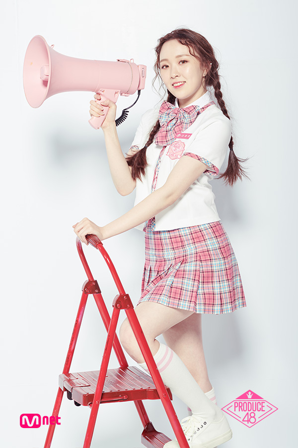 Tags: Television Show, K-Pop, Lee Chaejeong, Checkered, Skirt, Sneakers, Checkered Skirt, White Background, Collar (Clothes), Ladder, White Footwear, Shoes