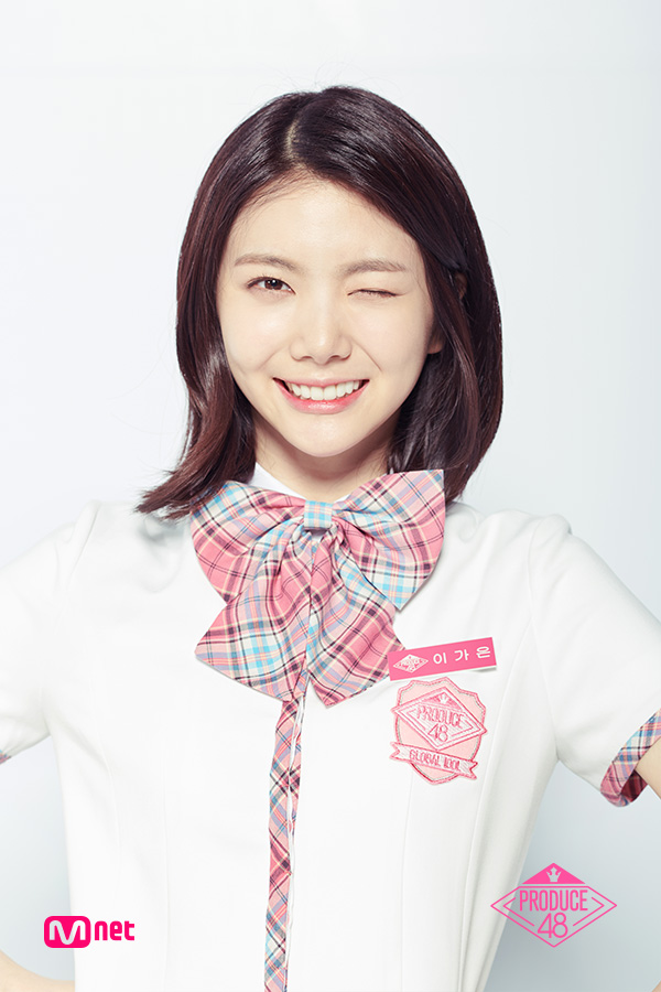 Tags: K-Pop, Television Show, After School, Lee Gaeun, Bow Tie, Close Up, Checkered Bow, Light Background, White Background, Checkered Neckwear, Short Sleeves, Wink
