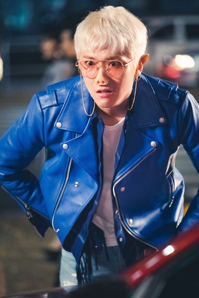 Tags: K-Pop, K-Drama, FTISLAND, Lee Hong-ki, Blunt Bangs, Looking Ahead, Hand In Pocket, Blue Jacket, Glasses, Leather Jacket, Blue Outerwear, Close Up