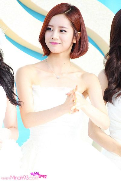 Tags: K-Pop, Girls' Day, Lee Hyeri, Sleeveless, White Outfit, Necklace, Clasped Hands, White Dress, Bare Shoulders, Looking Away, Collarbone, Sleeveless Dress