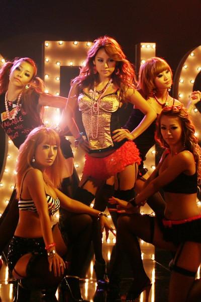 Tags: K-Pop, Fin.K.L, Lee Hyori, Sleeveless, Bare Legs, Lingerie, Five Girls, Kneeling, Skirt, Group, Black Legwear, Suggestive