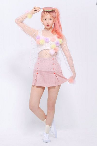 Tags: K-Pop, Real Girls Project, Lee Jeewon, Pink Hair, Ponytail, Pink Dress, Pink Outfit