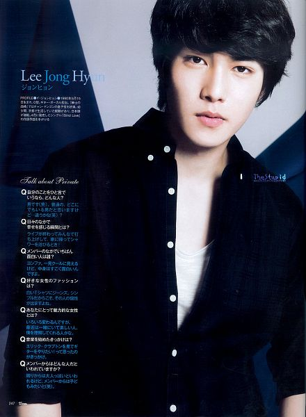 Tags: K-Pop, CNBLUE, Lee Jong-hyun, Japanese Text, Text: Artist Name, Magazine Scan, Scan, Android/iPhone Wallpaper