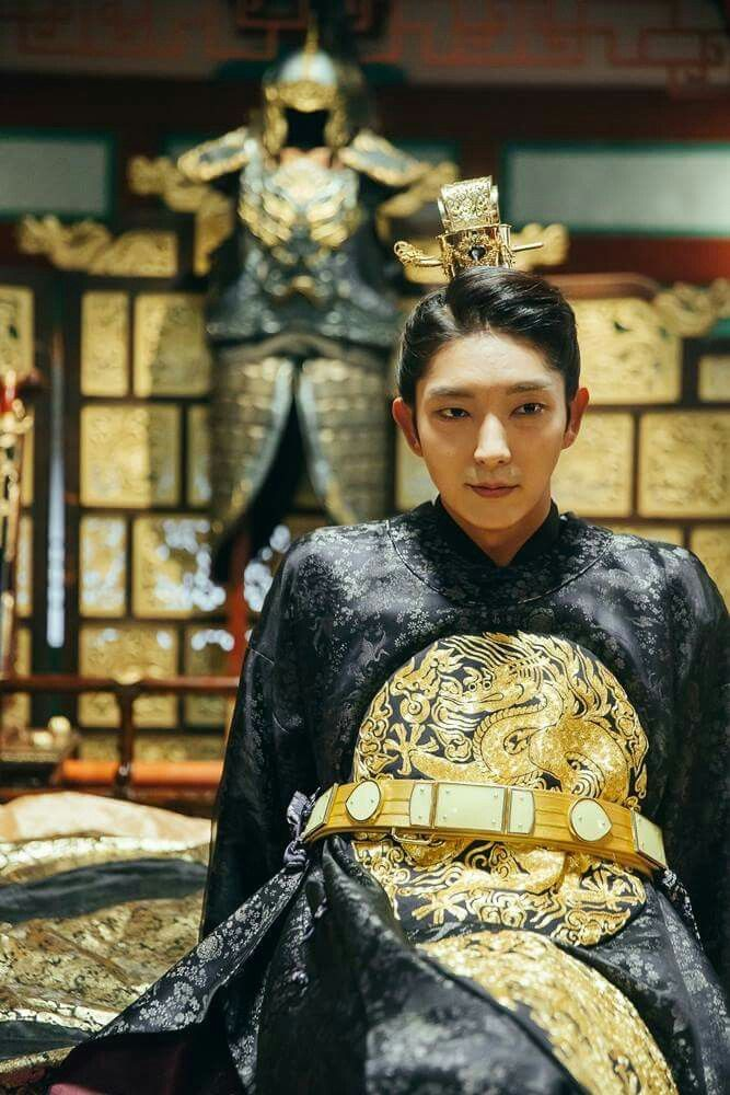 Tags: K-Drama, Lee Jun-ki, Bent Knees, Traditional Clothes, Sitting, Armor, Korean Clothes, Belt, Bed, Blanket, Black Outfit, Moon Lovers: Scarlet Heart Ryeo
