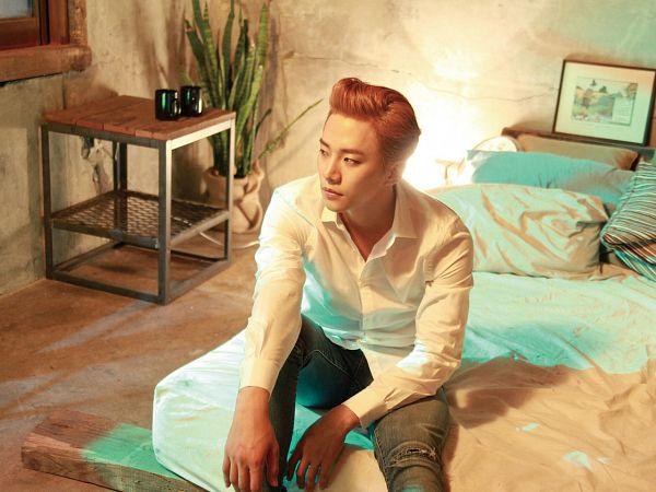 Tags: K-Pop, 2PM, Lee Junho, Red Hair, On Bed, Bed, One (Lee Junho)