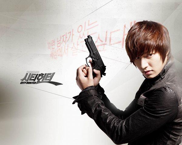 Tags: K-Drama, Lee Min-ho, Black Jacket, Black Outerwear, Korean Text, Gun