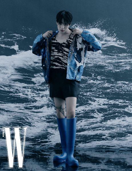 Tags: K-Pop, Monsta X, Lee Min-hyuk (Monsta X), W Korea, Magazine Scan