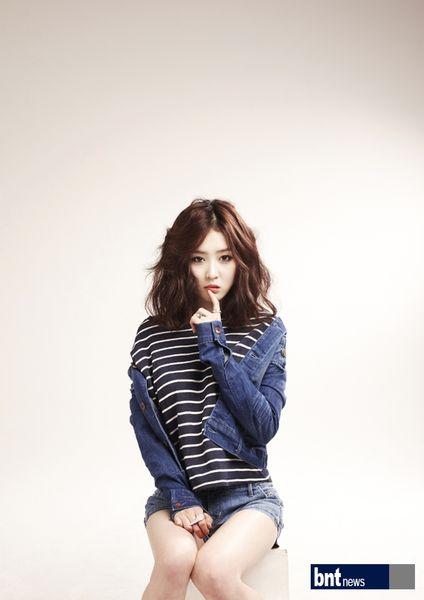 Tags: K-Drama, Lee Seul-bi, Striped Shirt, Blue Outerwear, Blue Shorts, Light Background, Striped, White Background, Denim Shorts, Blue Jacket, Shorts, Denim Jacket
