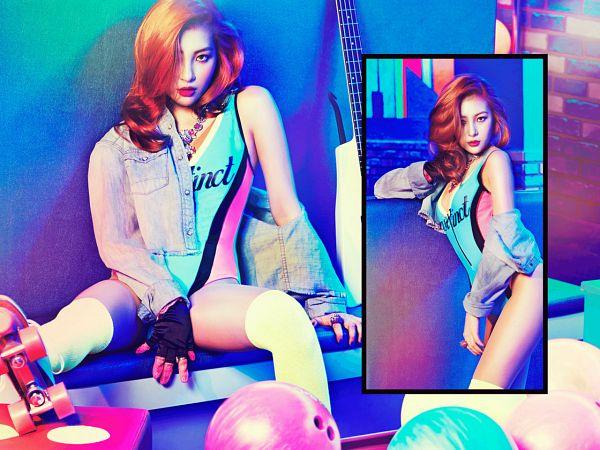 Tags: Wonder Girls, Lee Sunmi, Spread Legs