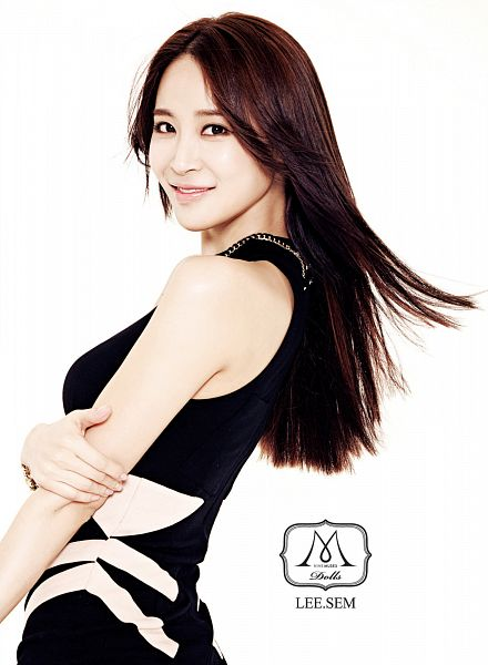 Tags: K-Pop, Nine Muses, Leesem, White Background, Text: Artist Name, Black Outfit, Light Background, Android/iPhone Wallpaper