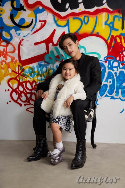 Tags: K-Pop, Got7, BamBam, Chujai, Black Pants, Sitting On Chair, Graffiti, Chair, Duo, Child, Serious, Lips Garçon