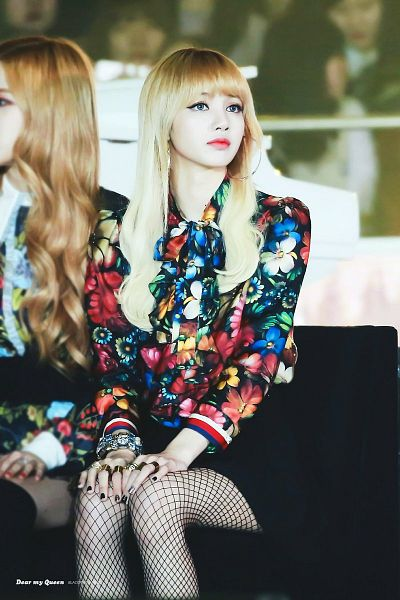 Tags: K-Pop, Black Pink, Lisa, Fishnets, Floral Print, Shorts, Hand On Leg, Hand On Knee, Bare Legs, Chair, Pantyhose, Ring