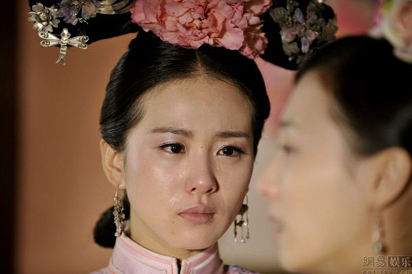 Tags: C-Drama, Liu Shishi, Traditional Clothes, Pink Flower, Crying, Flower, Hair Ornament, Chinese Clothes, Scarlet Heart