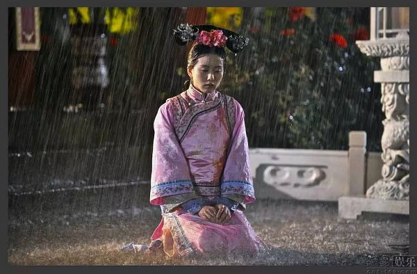 Tags: C-Drama, Liu Shishi, Pink Dress, Pink Outfit, Flower, Traditional Clothes, Hair Ornament, Pink Flower, Chinese Clothes, Rain, Kneeling, Water