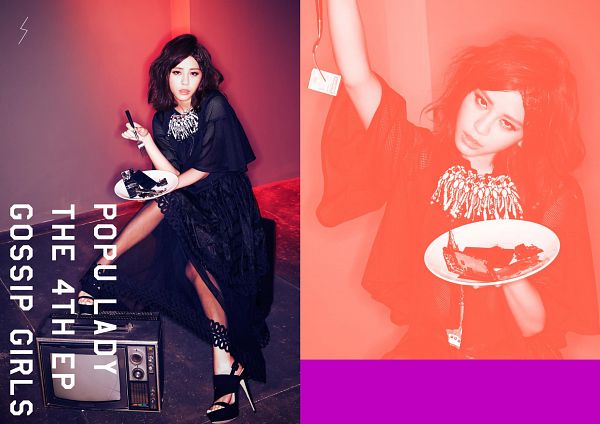 Tags: C-Pop, Popu Lady, Liu Yushan, Black Dress, Necklace, Serious, High Heels, Black Outfit, Wallpaper