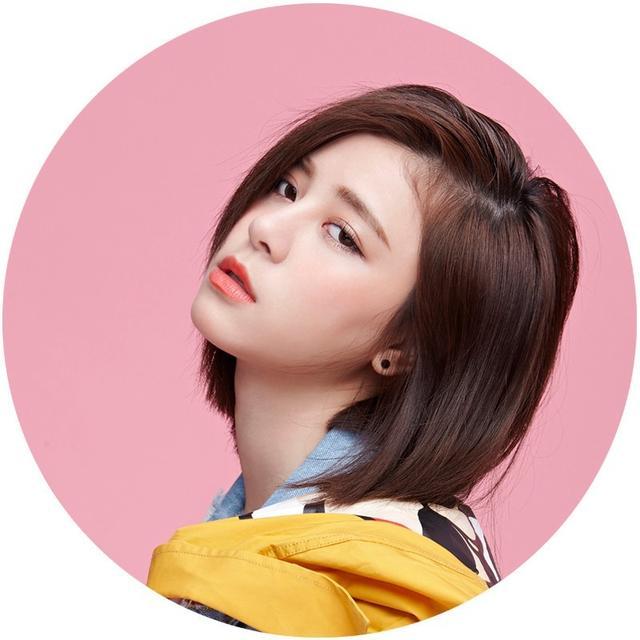 Tags: C-Pop, Popu Lady, Liu Yushan, Pink Background, Medium Hair