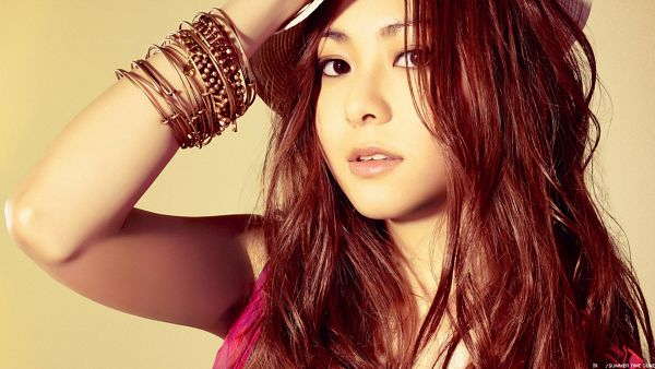 Tags: J-Pop, Mai Kuraki, Bracelet, Hand On Hat, Yellow Background, Wallpaper, HD Wallpaper