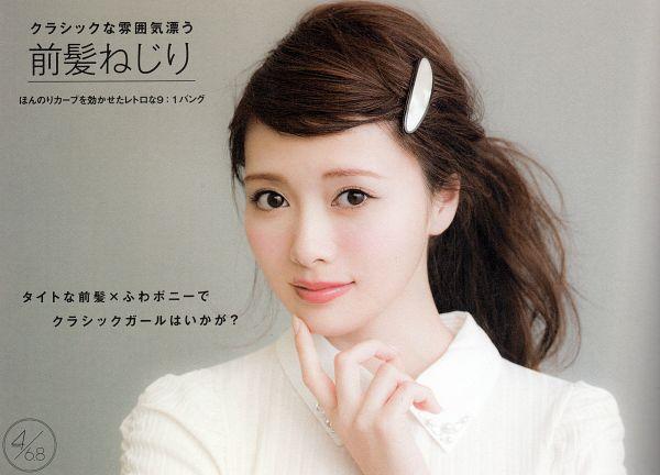 Tags: J-Pop, Nogizaka46, Mai Shiraishi, Hair Clip, Close Up, Wallpaper, Scan