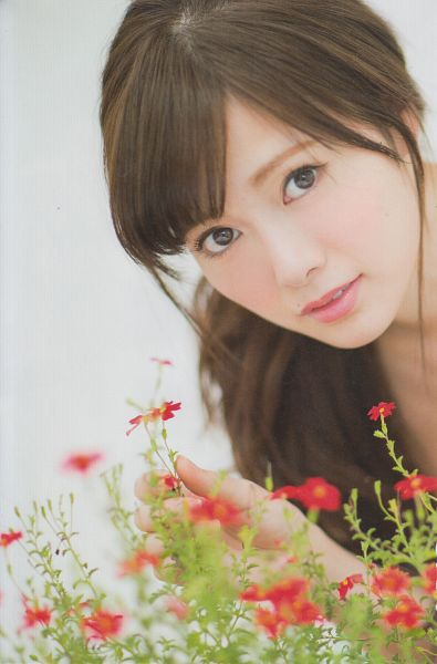 Tags: J-Pop, Nogizaka46, Mai Shiraishi, Close Up, Flower, Android/iPhone Wallpaper, Scan