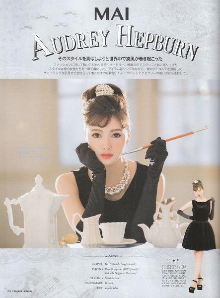 Tags: J-Pop, Nogizaka46, Mai Shiraishi, Black Outfit, Black Dress, Android/iPhone Wallpaper, Magazine Scan
