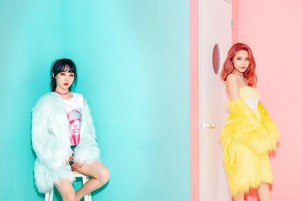Tags: K-Pop, Mamamoo, Moonbyul, Solar, Fur Coat, Coat, Fur, Two Girls, Fur Trim, Duo, Purple (Album)