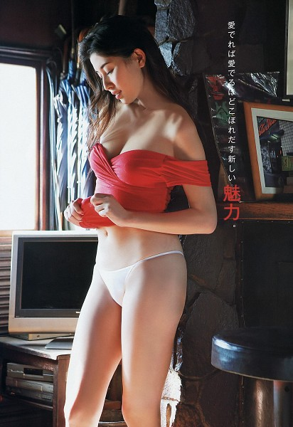 Tags: Manami Hashimoto, Japanese Text, Cleavage, Underwear, Suggestive, Magazine Scan, Scan, Android/iPhone Wallpaper