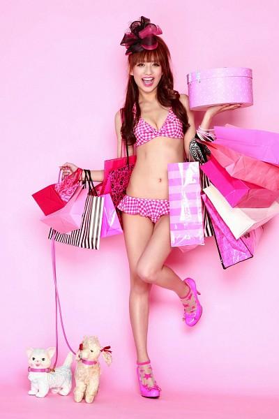 Tags: Maomi Yuuki, High Heels, Bikini, Gift, Suggestive, Animal, Cleavage