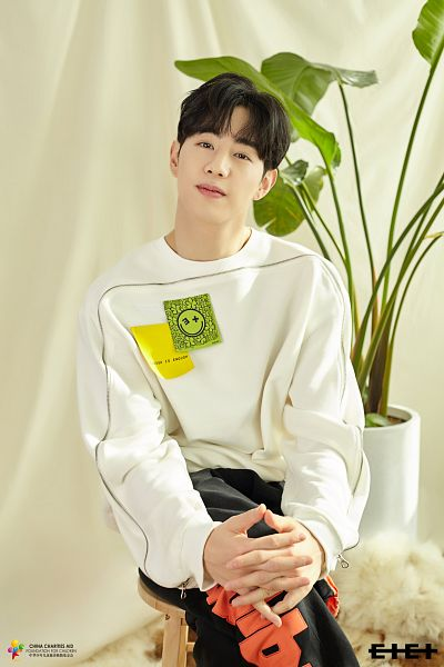 Tags: K-Pop, C-Pop, Got7, I Never Told You, Mark, Chair, Crossed Legs, Holding Hands, Vase, Hand On Knee, Black Pants, Plant