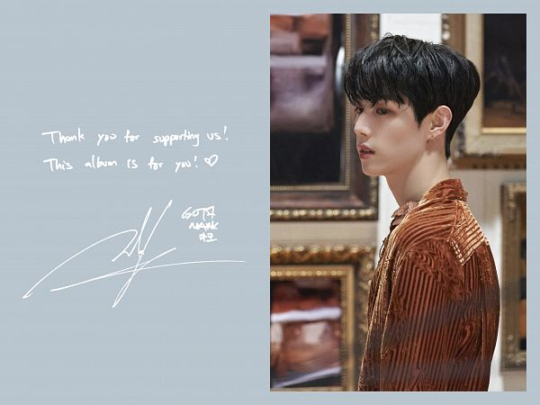 Tags: K-Pop, Got7, Mark, English Text, Orange Shirt, Breath Of Love: Last Piece