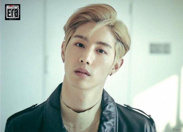 Tags: K-Pop, Got7, Mark, Collar (Clothes), Turtleneck, Serious, Black Jacket, Leather Jacket, The New Era