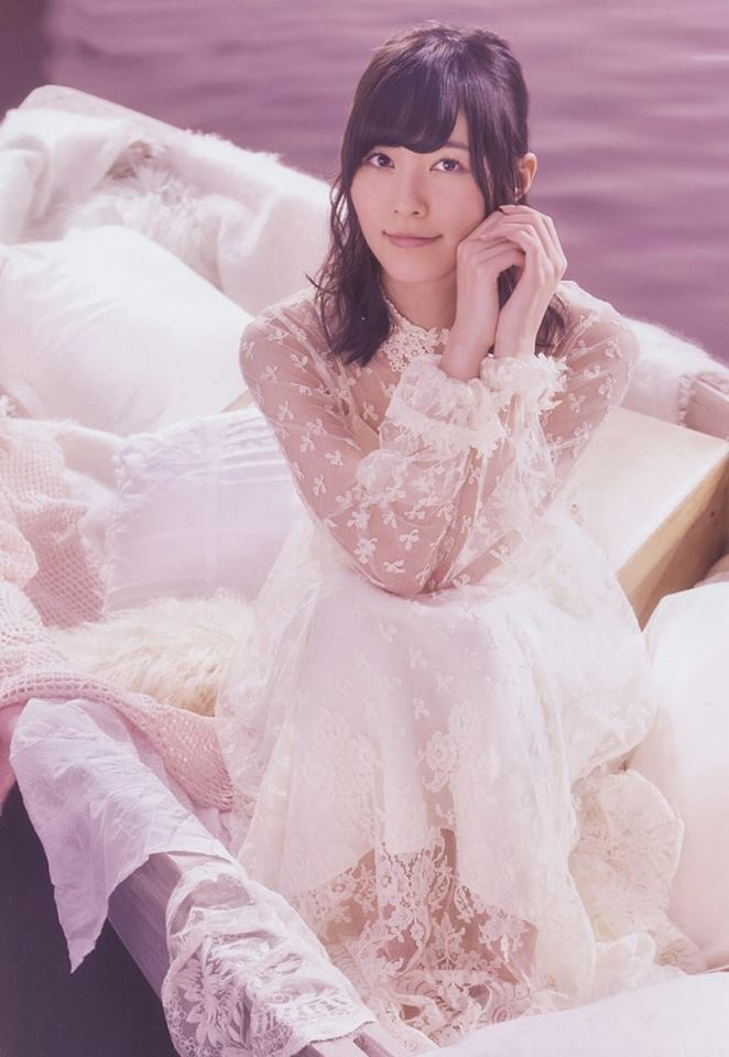 Tags: J-Pop, SKE48, AKB48, Matsui Jurina, White Dress, Looking Up, Wedding Dress, White Outfit, From Above