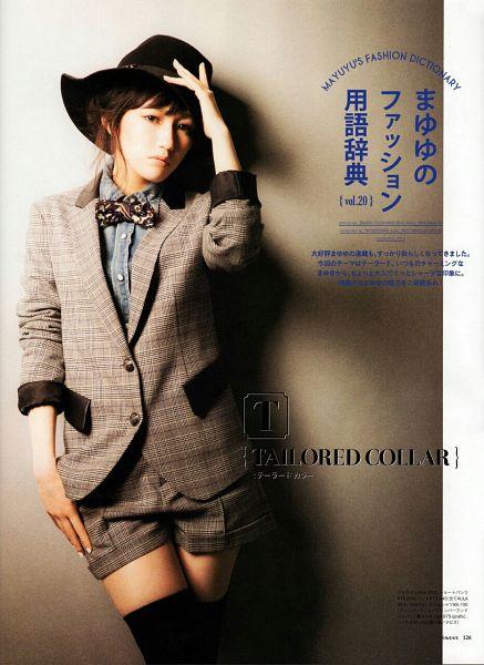 Tags: J-Pop, AKB48, Mayu Watanabe, Hat, Jacket, Bow Tie, Suit