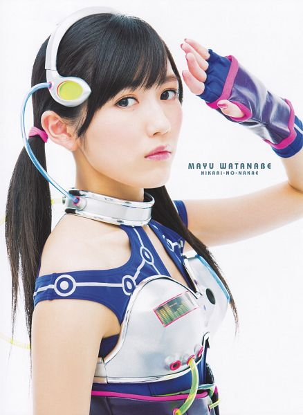 Tags: AKB48, Mayu Watanabe, Twin Tails, Japanese Text, Android/iPhone Wallpaper, Magazine Scan, Scan
