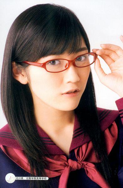 Tags: J-Pop, AKB48, Mayu Watanabe, Glasses, Sailor Collar, Collar (Clothes), Android/iPhone Wallpaper, Seifuku Zukan Saigo no Seifuku Photobook, Scan