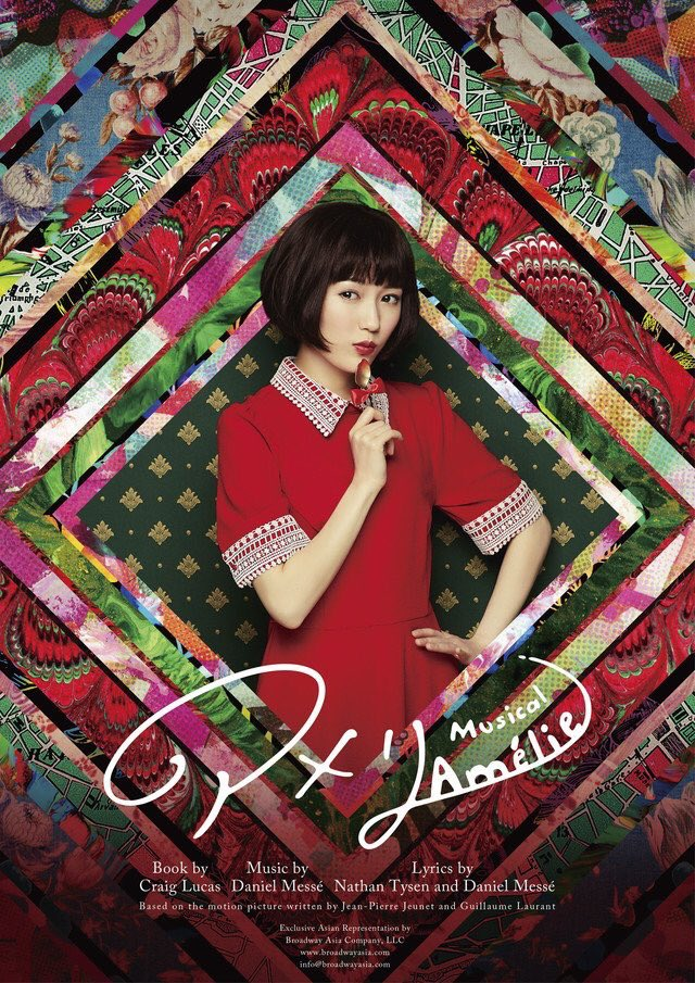 Tags: J-Pop, Mayu Watanabe, Collar (Clothes), Multi-colored Background, Wig, Hand On Hip, Holding Object, Red Lips, English Text, Japanese Text, Short Sleeves, Blunt Bangs