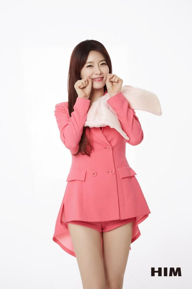 Tags: K-Pop, OhBliss, Mei, Bow, Light Background, Pink Shorts, White Background, Pink Outerwear, Pink Jacket, Shorts, Pink Outfit, Magazine Scan