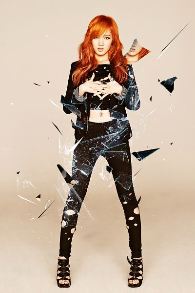 Tags: K-Pop, Miss A, Goodbye Baby, Meng Jia, Red Hair, Android/iPhone Wallpaper