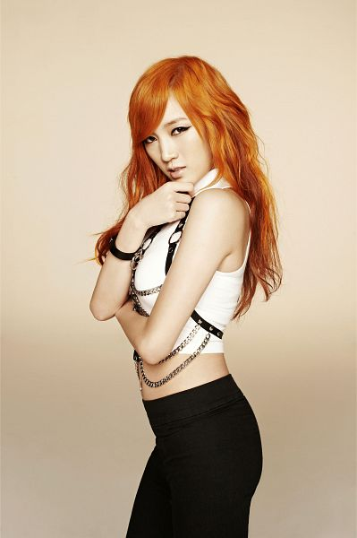 Tags: K-Pop, Miss A, Goodbye Baby, Meng Jia, Standing, Red Hair, Android/iPhone Wallpaper
