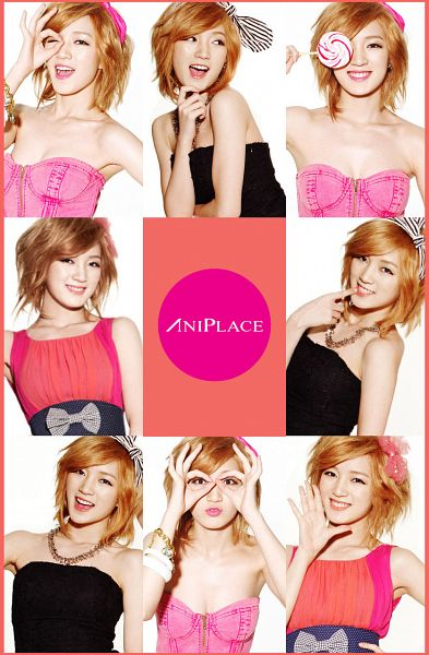 Tags: K-Pop, Miss A, Meng Jia, Suggestive, Multiple Persona, Lollipop, Pink Shirt, Medium Hair, Candy, Make Up, Red Hair, Aniplace