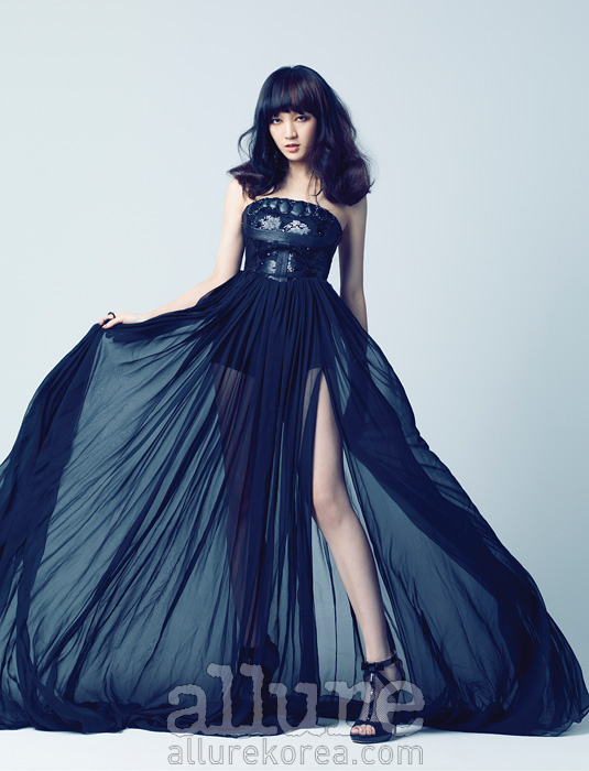 Tags: K-Pop, Miss A, Meng Jia, Blue Dress, Blue Outfit, Magazine Scan, Allure, Scan