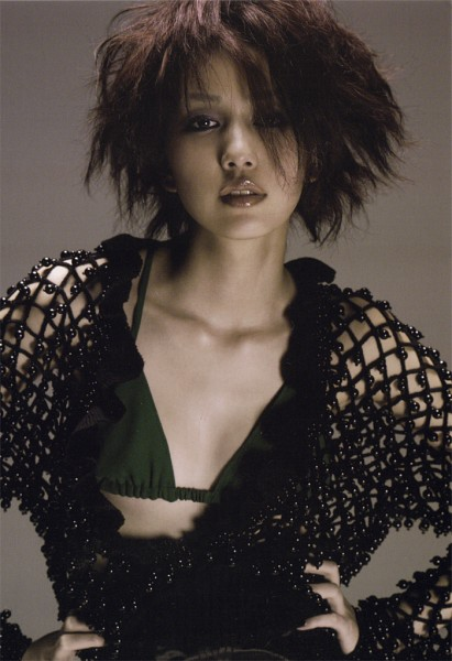 Tags: J-Pop, Mika Nakashima, Make Up, Bra, Black Jacket, Collarbone, Black Outerwear, Hand On Hip, Lingerie