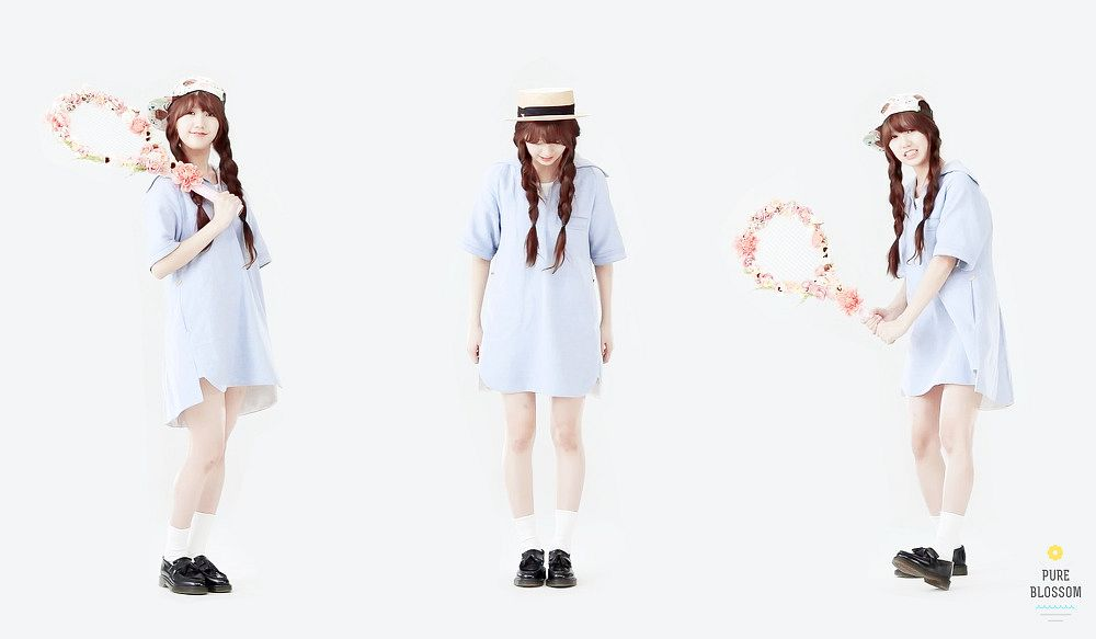 Tags: K-Pop, Oh My Girl, Mimi, White Background, Trio, Three Girls, Light Background