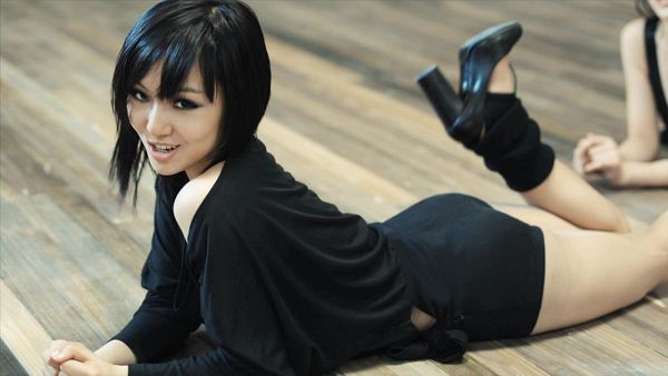 Tags: K-Pop, Miss A, Bad Girl Good Girl, Min, Suggestive, Black Dress, Black Footwear, Laying Down, Laying On Stomach, Laying On Ground, Shoes, Sexy Pose